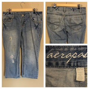 Aéropostale Capri/Cropped Denim-Distressed