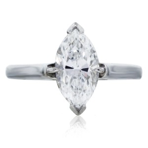 Tiffany & Co. Tiffany & Co. Platinum Marquise Cut Solitaire Engagement Ring