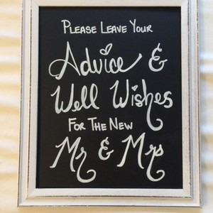Guestbook Chalkboard Sign