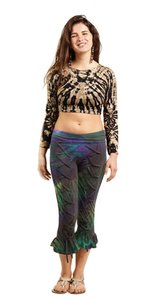 Other Hippie Bpho The Treasured Hippie Handmade Pants Capris Tie Dye