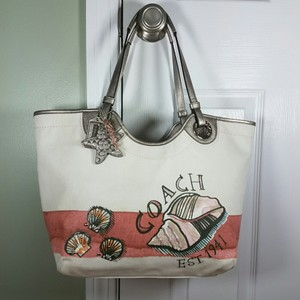 Coach Beach Seashell Tote in Natural