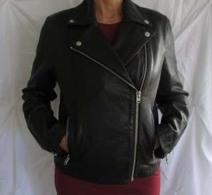 Topshop Leather Motorcycle Jacket
