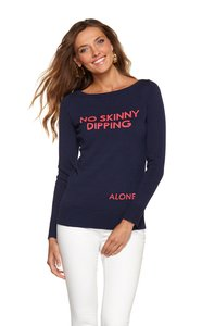 Lilly Pulitzer Preppy Boatneck Cotton Sweater
