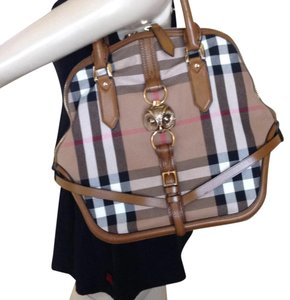 Burberry Satchel in tan brown
