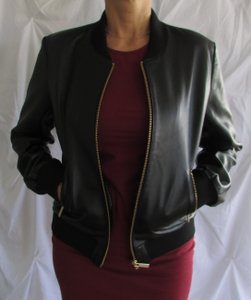 Thomas Wylde Leather Bomber black Leather Jacket
