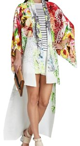Floral White Maxi Dress by BCBGMAXAZRIA