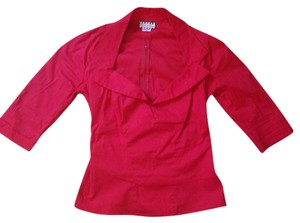 Pinup Couture Top Red