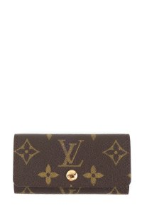 Louis Vuitton Louis Vuitton monogram Ebene coated canvas key holder wallet