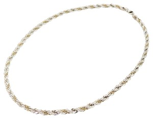 Tiffany & Co. Tiffany & Co. Sterling Silver and 18K Yellow Gold Heavy Twisted Rope