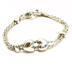Tiffany & Co. Sterling Silver Sliding Hearts Bracelet