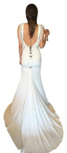 Nicole Miller Bridal Antique White Silk Alexis - Fj10005 Casual Wedding Dress Size 6 (S)