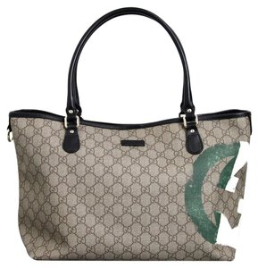 Gucci Canvas Italian Flag Handbag Tote