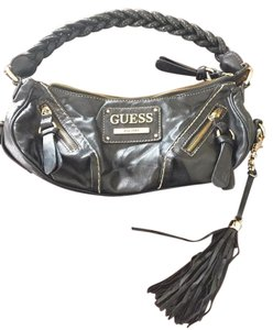 Guess Tassels Braided Leather Shoulder Bag