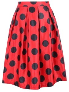 Other Skirt Red & Black Polka Dots