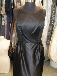 Watters Black Watter & Watter 9254 Size 10 - Special Occasion - Black Satin (w-14) Dress