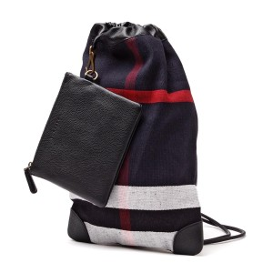 Burberry Duffle Check Canvas Backpack