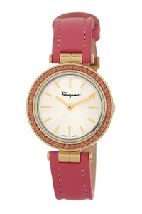 Salvatore Ferragamo Salvatore Ferragamo Women's Intreccio Genuine Topaz Bezel Watch