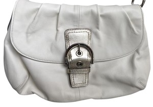 Coach Cream Buckle Shoulder Bag