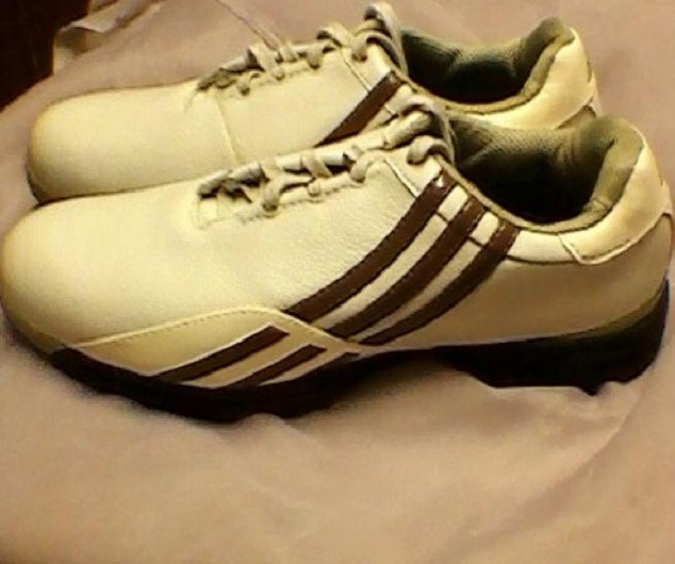 wholesale dealer 4cd88 e9ce1 adidas White with Beige and Brown Trim  Olive Green Interior Driver ...