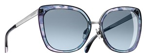 Chanel 4209 Blue Multicolor Square CC Logo Signature Aviator Pilot Metal