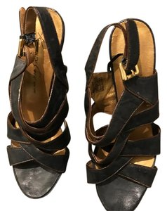 Kenneth Cole navy and brown Platforms