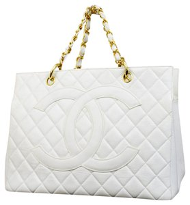 Chanel Hand Chain Tote in White
