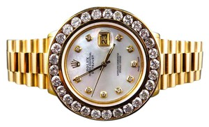 Rolex Excellent Mens Presidential Style Rolex 7.2 Ct Diamond Bezel