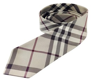 Burberry London Burberry London Clinton Check Woven 100% Silk Tie