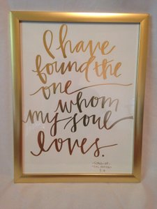 Gold Framed Scripture