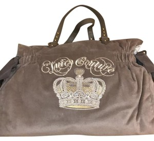 Juicy Couture taupe & gold Diaper Bag