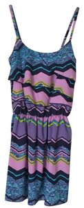Romeo & Juliet Couture short dress Purple Multi / Blue / Lime Green - RJGRMD1135 on Tradesy