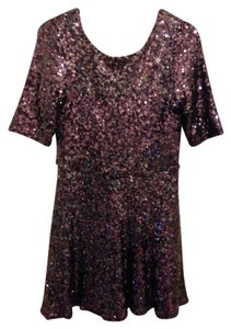 French Connection Low Back Sequin Mini Dress
