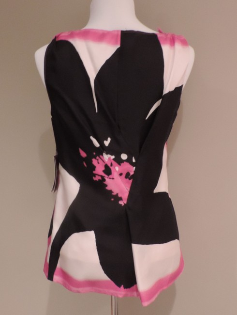 Etcetera Top Black and Pink