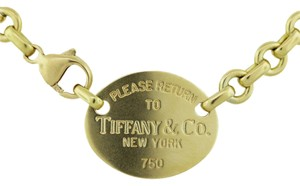 Tiffany & Co. Tiffany & Co. 18k Yellow Gold Return To Tiffany's Necklace