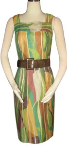 Kay Unger Sheath Belted Size 6 Dress