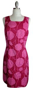 Lilly Pulitzer short dress Pink Red Floral on Tradesy