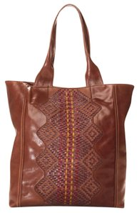 Isabella Fiore Stella Leather Tote in Brown