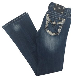 Miss Me Boot Cut Jeans-Medium Wash