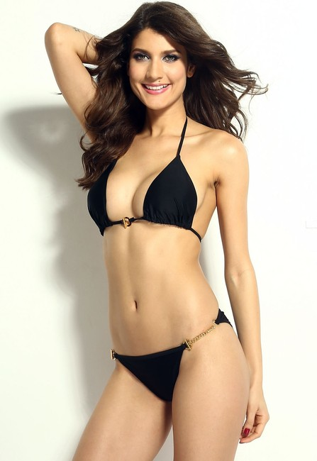 Other Free Shipping New's Hardware Push-Up Top Low Rise Panty Bikini Set Item No. : Lc40672-2 Size:l
