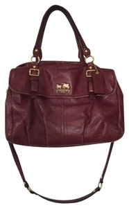 Coach Leather Gold Hardware Satchel in Magenta