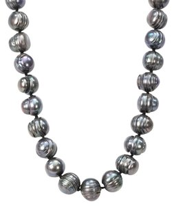 Other 14K Gold Dark Grey Tahitian Cultured Pearl Necklace