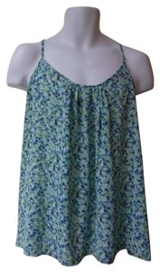New York & Company Top floral/ brown
