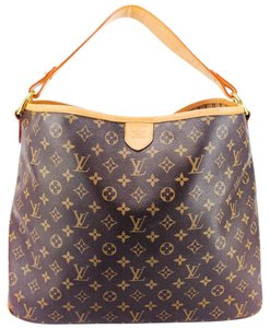Louis Vuitton Canvas Leather Striped Signature Tote in Brown and Tan