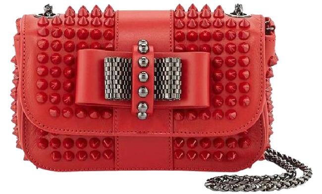 Item - Sweet Charity Spike Pink/Red Cross Body Bag