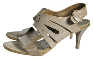 Pedro Garcia Laser Cut Barneys New York Neiman Marcus Bergdorf Goodman Grey Sandals