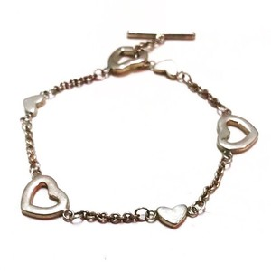 Tiffany & Co. Sterling Silver Heart Charm Toggle Bracelet