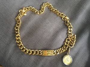 Chanel Chanel Chain Link Belt with Gold Medallion