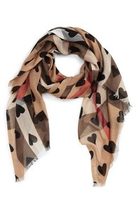 Burberry BURBERRY HEART AND CHECK MODAL AND CASHMERE SCARF