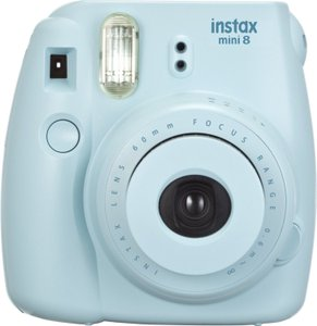 Never Used! Fujifilm Instax Mini 8 Instant Film Camera Blue