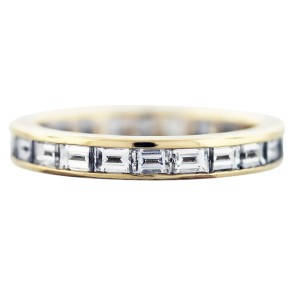 Tiffany & Co. Tiffany and Co Baguette Cut Eternity Band 18K Yellow Gold